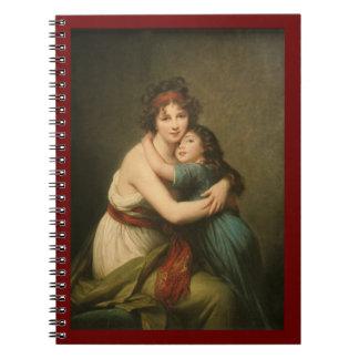 Elisabeth mit ihrer Tochter 1780-1819 Notizblock