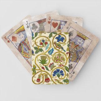 Elisabethanische Strudel-Stickereien - Goldwork im Bicycle Spielkarten