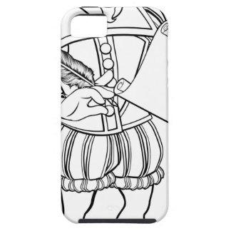 Elisabethanischer Shakespeare-Cartoon-Charakter Hülle Fürs iPhone 5