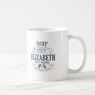 Elizabeth, 200. Jahrestags-Tasse West Virginia Kaffeetasse