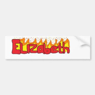Elizabeth 3 autoaufkleber
