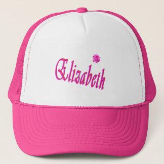 Elizabeth-Mädchen-Namenslogo, Truckerkappe