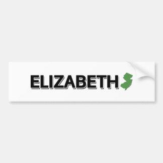 Elizabeth, New-Jersey Autoaufkleber