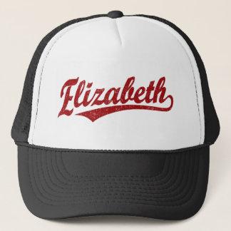Elizabeth-Skriptlogo im Rot Truckerkappe