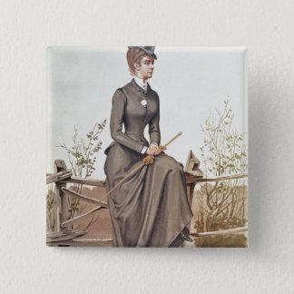 Elizabeth von Bayern Quadratischer Button 5,1 Cm