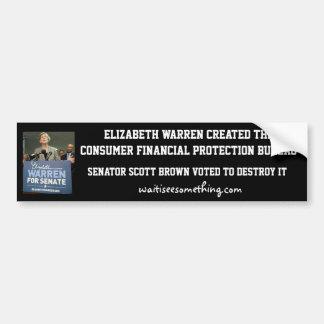 Elizabeth Waren: CFPB Autoaufkleber