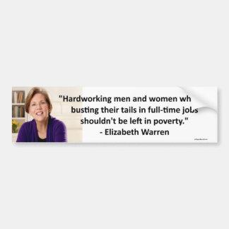 Elizabeth Waren - fleißig Autoaufkleber