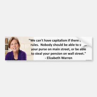 Elizabeth Waren - Kapitalismus Autoaufkleber