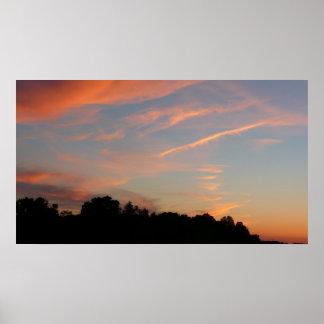Elkridge Sonnenuntergang-Maryland-Landschaft Poster
