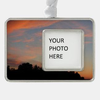Elkridge Sonnenuntergang-Maryland-Landschaft Rahmen-Ornament Silber