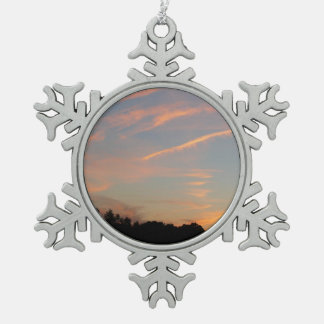 Elkridge Sonnenuntergang-Maryland-Landschaft Schneeflocken Zinn-Ornament