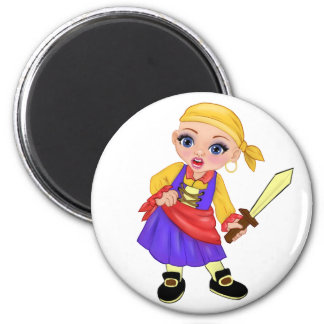 Ella die verzauberte Prinzessin Who Are You? Pirat Runder Magnet 5,7 Cm