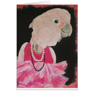 Ella hübsch in der rosa Anmerkungskarte Karte