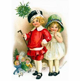 Ellen H. Clapsaddle: Junge und Mädchen mit Spielwa Fotostatue