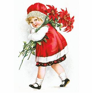 Ellen H. Clapsaddle: Mädchen mit WeihnachtsBlumen Photoskulpturen