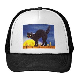 Ellen H. Clapsaddle: Schwarze Katze auf einem Zaun Truckerkappen