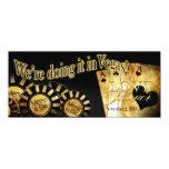 Elles Vegas-Hochzeit (treten Sie mit mir in 10,2 X 23,5 Cm Einladungskarte