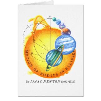 Elliptische Bahnen Newtons Karte