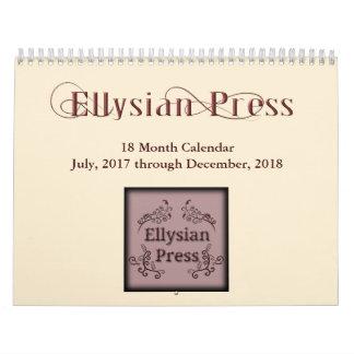 Ellysian Presse-18-monatiger Kalender
