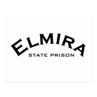 Elmira-Staats-Gefängnis-Logo Postkarte