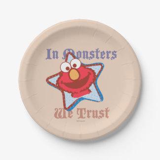 Elmo - auf Monster vertrauen wir Pappteller