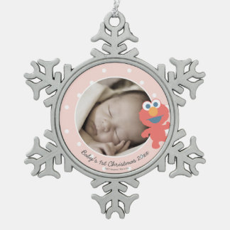 Elmo | das erste Weihnachten Babys - addieren Sie Schneeflocken Zinn-Ornament