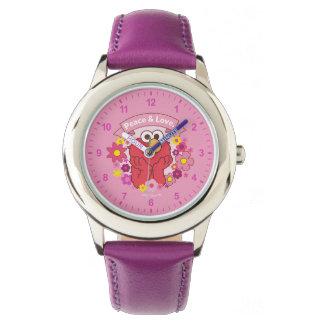 Elmo | Frieden u. Liebe Armbanduhr