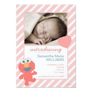 Elmo Geburts-Mitteilung 12,7 X 17,8 Cm Einladungskarte