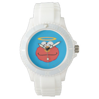 Elmo lächelndes Gesicht mit Halo Armbanduhr