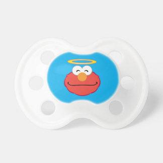 Elmo lächelndes Gesicht mit Halo Schnuller