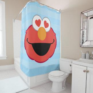 Elmo lächelndes Gesicht mit Herz-Förmigen Augen Duschvorhang