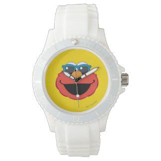 Elmo lächelndes Gesicht mit Sonnenbrille Armbanduhr