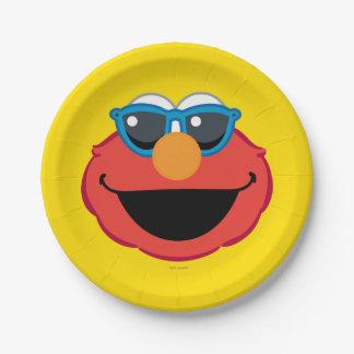 Elmo lächelndes Gesicht mit Sonnenbrille Pappteller