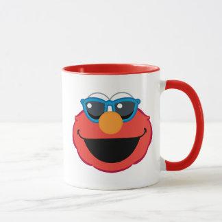 Elmo lächelndes Gesicht mit Sonnenbrille Tasse