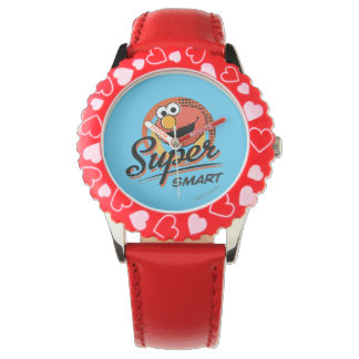 Elmo super intelligentes Comic Armbanduhr