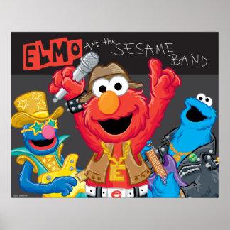 Elmo und der Sesam-Band-Rock Poster