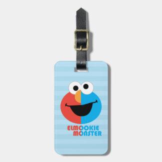 Elmo und Plätzchen-halbes Gesicht Gepäckanhänger