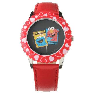 Elmo und Plätzchen-Monster-Freunde Armbanduhr