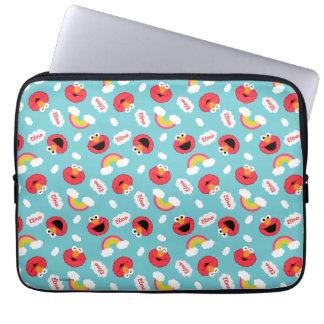 Elmo und Regenbogen-Muster Laptop Sleeve
