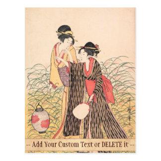 Elopers Musashino Kitagawa Utamaro in der Postkarte
