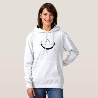 ELOSIN Mond-Symbol-GrauHoodie Hoodie