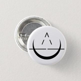 ELOSIN Mond-Symbol-Knopf Runder Button 3,2 Cm