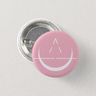 ELOSIN Mond-Symbol-Rosa-Knopf Runder Button 2,5 Cm