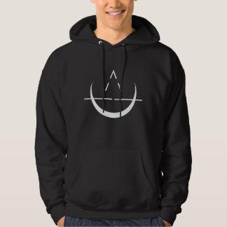 ELOSIN Mond-Symbol-SchwarzesHoodie Hoodie