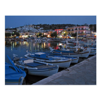Elounda bis zum Nacht Postkarte