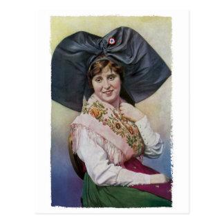 Elsass-Mädchen-Postkarte Postkarte