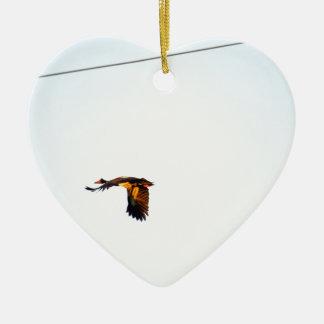 ELSTER-GANS LÄNDLICHES QUEENSLAND AUSTRALIEN KERAMIK Herz-Ornament