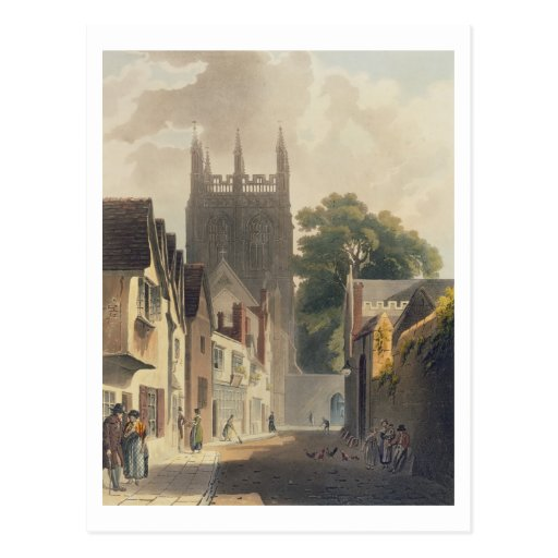 Elster-Weg, Oxford, Illustration vom 'Histor Postkarte