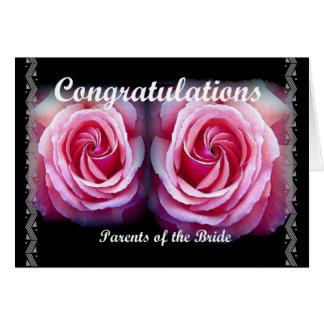 ELTERN der BRAUT - Hochzeits-Glückwünsche Karte