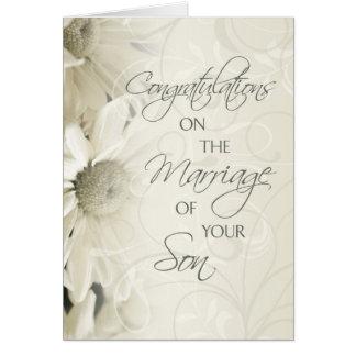 Eltern der Bräutigam-Hochzeits-Glückwunsch-Karte Karte